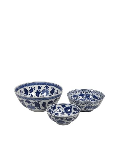 Tollmache Bowls - Set of 3, 16X16X7.25