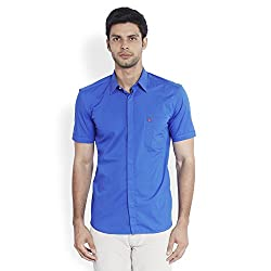 Parx Dark Blue Shirt 8907249868007_XMST04851-B6_Dark Blue_40