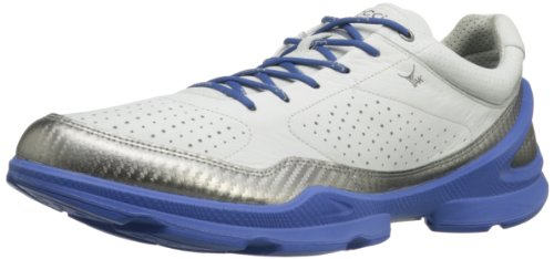 Reviews ECCO Men s Plus Running Shoe White Silver Metallic
