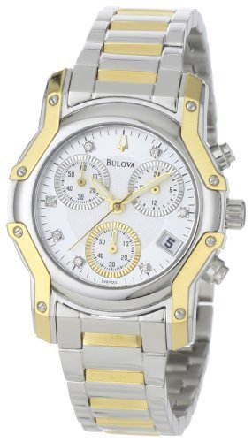 Bulova Women's 98P120 Wintermoor Two-Tone Diamond Chronograph Watch