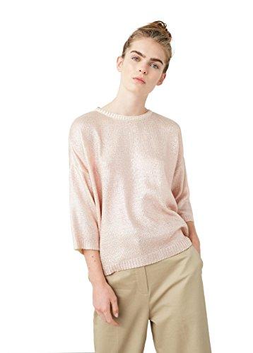 mango-womens-metallic-finish-sweater-light-pink-xs