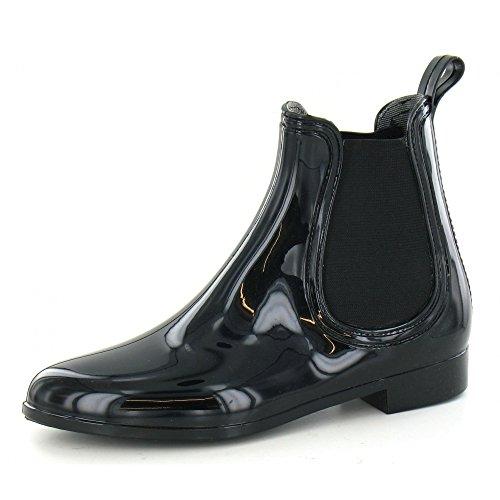 Spot On - Stivaletti alla Caviglia sintetici - Donna (37 EU) (Nero)
