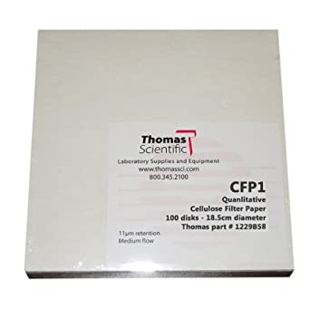 Thomas Cellulose Qualitative Filter Paper, Medium Flow