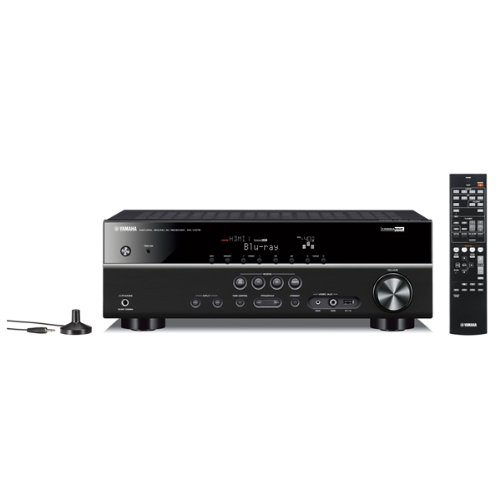 Yamaha RXV375BL 4-in-1 5 Channel HDMI AV Receiver - Black Black Friday & Cyber Monday 2014