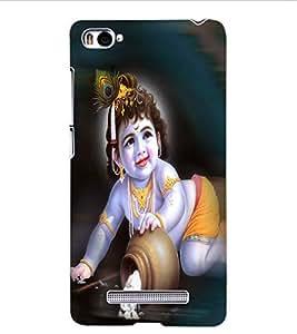 ColourCraft Lord Krishna Design Back Case Cover for XIAOMI MI 4I