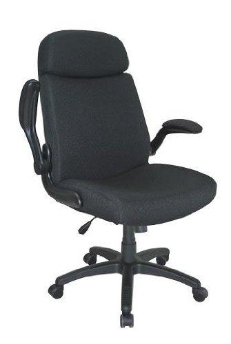 Mayline Comfort Big and Tall Metal and Plastic Pivot Arm Chair - Gray