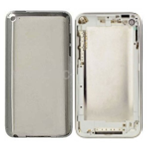 Epartsolution-Ipod 4Th Generation White Chrome Back Housing Metal Back Cover Replacement Part Usa Seller front-601411