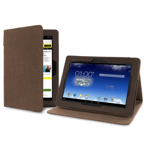 Cover-Up Version Stand Kakao Braune Natürliche Hülle aus Hanf mit Mehrfachansicht für Asus MeMO Pad FHD 10 (ME302C) (10.1-zoll) Tablet