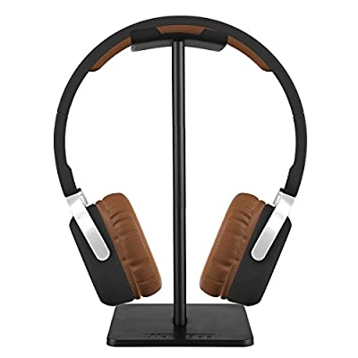 Headphone Stand, Auledio Universal Aluminum Headphone Holder Headset Showing Display Stand Hanger Compatible for All Headphones Size