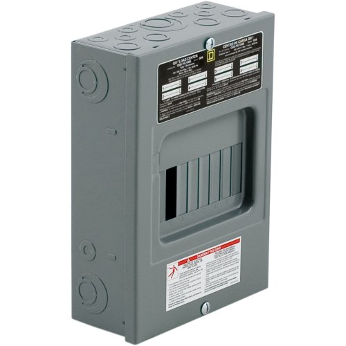 Square D By Schneider Electric Qo816L100Scp Qo 100 Amp 8-Space 16-Circuit Indoor Surface Mount Main Lugs Load Center
