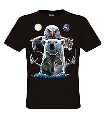 Amazon.com: Ethno Designs Native American Spirit - Mens T ...
