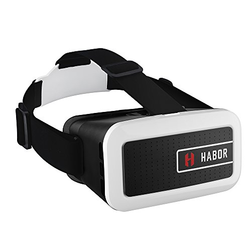 Best Deals! Habor 3D VR Virtual Video Headset Virtual Reality Glasses for Smartphones (New Version)