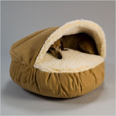 Luxury Cozy Cave Pet Bed Size: Medium, Fabric: Saddle