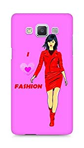 Amez designer printed 3d premium high quality back case cover for Samsung Galaxy A5 (Color sketch of a beautiful fashion young asian girl)