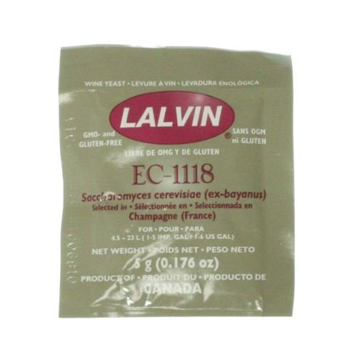 10 Packs of Lalvin Dried Wine Yeast EC 1118