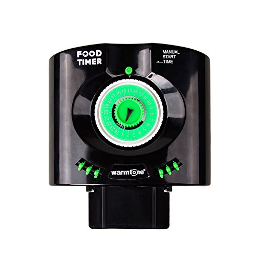 Daily 6 Times Automatic Fish Feeder Aquarium Tank Feeders Auto Food Timer Pet Feeding Dispenser on Schedule with Time Dials / Bracket Manual Start Time for Everyday and Holiday (Auto Fish compare prices)