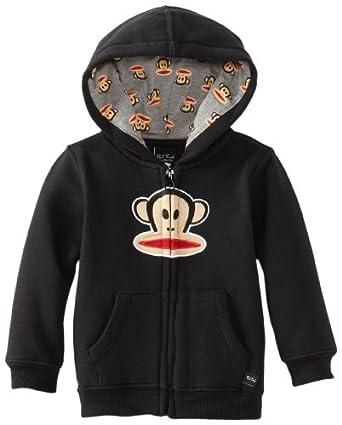 (新品)Paul Frank大嘴猴男婴连帽卫衣 Baby-Boys Infant Classic Hoodie灰色$21.93