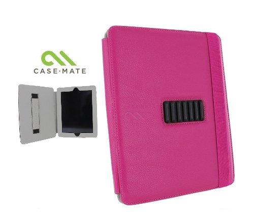Case-Mate 日本正規品 iPad 2 Versant Leather Folio Stand Case With Hand-Strap, Pink スタンド機能・ハンドストラップつき ブックタイプ レザー調ケース「Versant」 ピンク CM013830