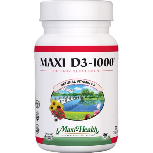 Maxi Vitamin D3 1000 IU enzymaxed for easy digestion - 90 tablets, 1 Pack pride vitamin d3 1000 iu 100 healthy bone teeth essential nutrient aids in calcium absorption maintain a healthy immune system