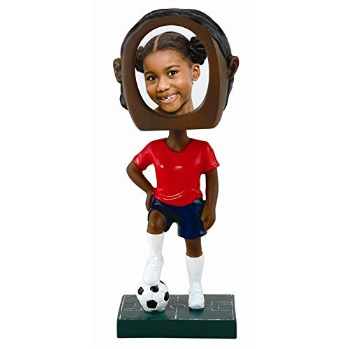 Female Soccer Player Photo Bobble Head
