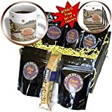 Perkins Designs Science Fiction - Watering Hole 2 alien UFO's from space landing in a desert area watering hole - Coffee Gift Baskets - Coffee Gift Basket