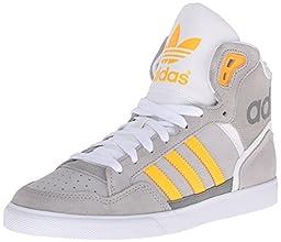 adidas Originals Women\'s Extaball W Fashion Sneaker, MGH Solid Grey/Solar Yellow/LGH Solid Grey, 8.5 M US