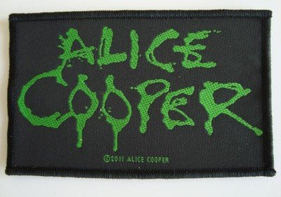 Musica Merch Alice Cooper - Dripping Logo Verde - cucita sul ferro/Patch