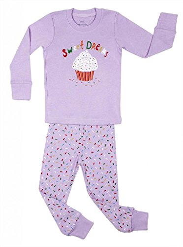 "Elowel Girls ""Cupcake"" 2 Piece Pajama Set 100% Cotton - 6 Years front-1078263"