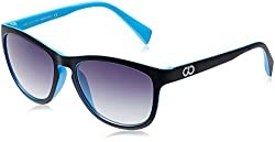 Gio Collection Oversized Sunglasses (Black and Blue) (BH 3106-2 Cat 03)
