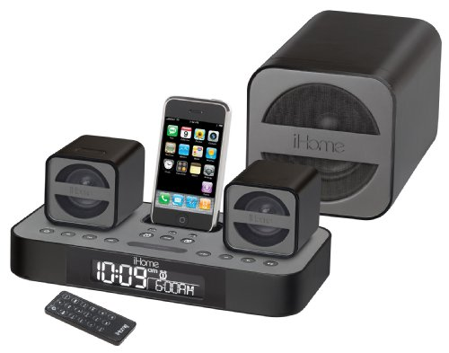 iHome iP51 Micro Speaker System for iPod and iPhone (Gun Metal)