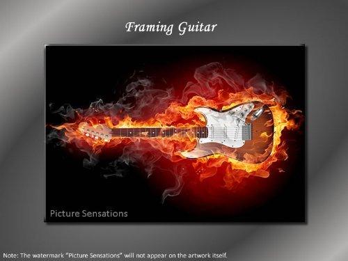 Framed Modern Giclee Canvas Art Framing Guitar Giclee Canvas Print
