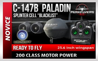 Tom Clancys Splinter Cell Blacklist Paladin C147 Aircraft Edition RC Plane RTF Aircraft Only - game sold separate