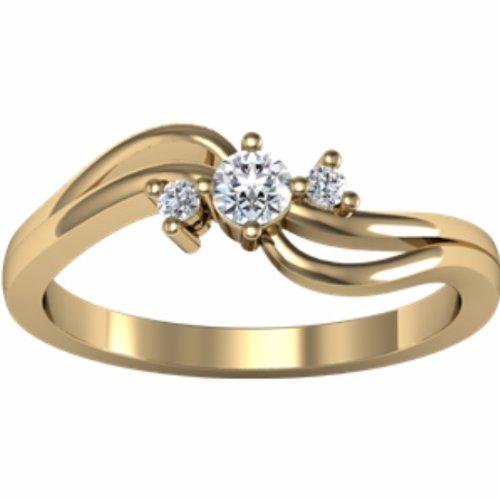 14K Yellow Gold Diamond Promise Ring - 0.14 Ct. - Size 5