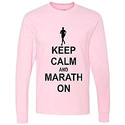 Keep Calm Marathon On Long Sleeve T-Shirt
