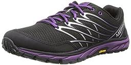 Merrell Women\'s Bare Access Trail Trail Running Shoe,Black/Purple,6.5 M US
