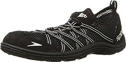 Speedo Men\'s Seaside Lace 4.0 Water Shoe, Black, 14 M US