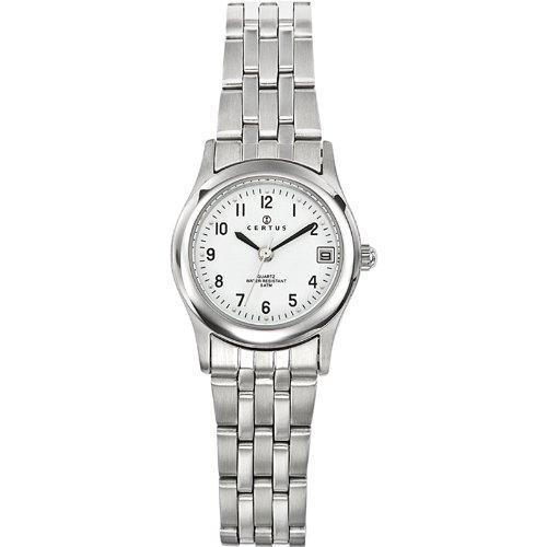 Certus 641364-Ladies Watch-Analogue Quartz-White Dial-Silver Metal Strap