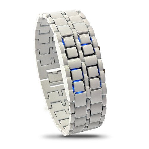 Sourcingbay Arabic Numeral Display Led Watch-Japanese Iron Inspired Style Blue