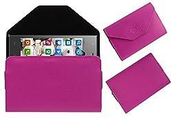 Acm Premium Pouch Case For Digimac Vivo Flip Flap Cover Holder Pink