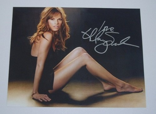 Hilary Swank Actress Million Dollar Baby Hand Signed Autographed 8X10 Glossy Photo Loa