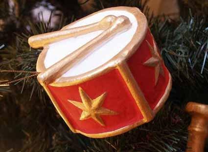 Weihnacht Deko Trommel 11 cm Weihnachtsbaumschmuck