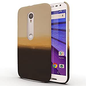 Koveru Designer Printed Protective Snap-On Durable Plastic Back Shell Case Cover for Motorola Moto G3 - Yellow and Black