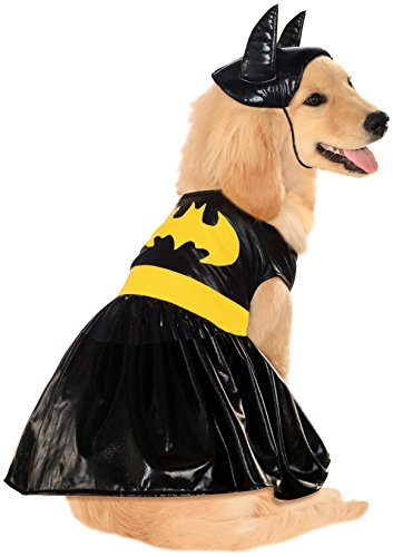 Batgirl Costume for Dogs - dress and headpiece