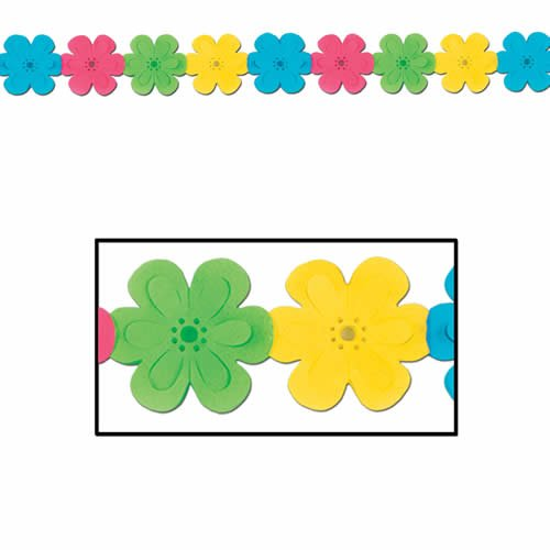 Beistle 55159 Flower Garland, 7 by 12-Feet - 1