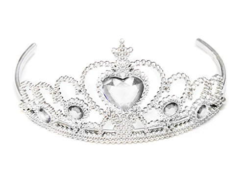 Fairy Princess Silver Tiara Crown Headband Accessories for Girls Costume Party