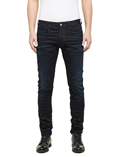 Replay Anbass - Vaqueros para hombre, Blue Denim 7, 34W x 32L