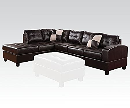 Acme Furniture 51200 Kiva Right- Arm Facing Sectional Sofa in Espresso