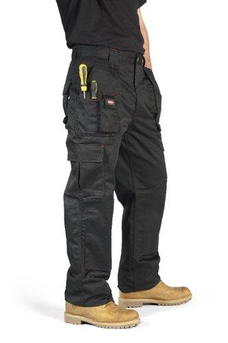 """Lee Cooper Workwear, Pantaloni cargo da lavoro, taglia 32"""", modello corto, LCPNT206"""