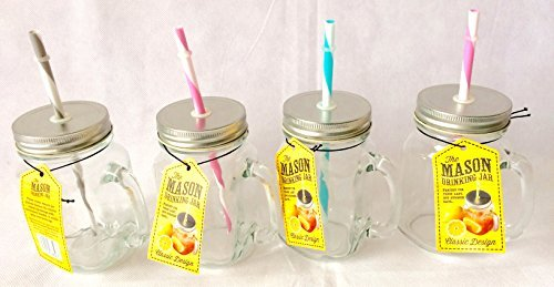 mason-mason-glass-drinking-jars-with-lid-handle-set-of-4