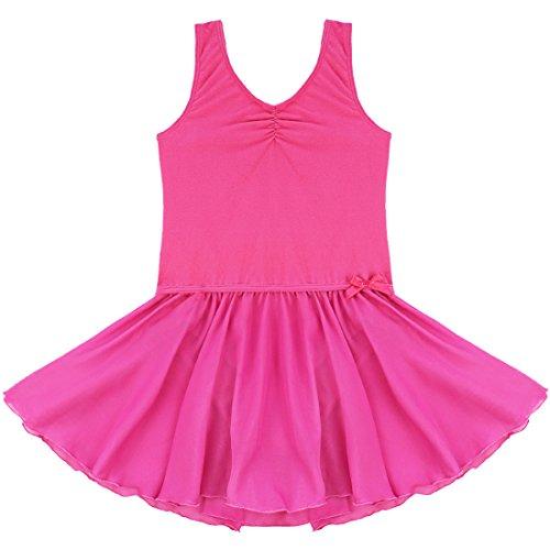 Tiaobug Mädchen Kinder Kleid Ballettkleid Ballettanzug Bodys Gymnastikanzug Turnanzug Trikot Tanzkleid
